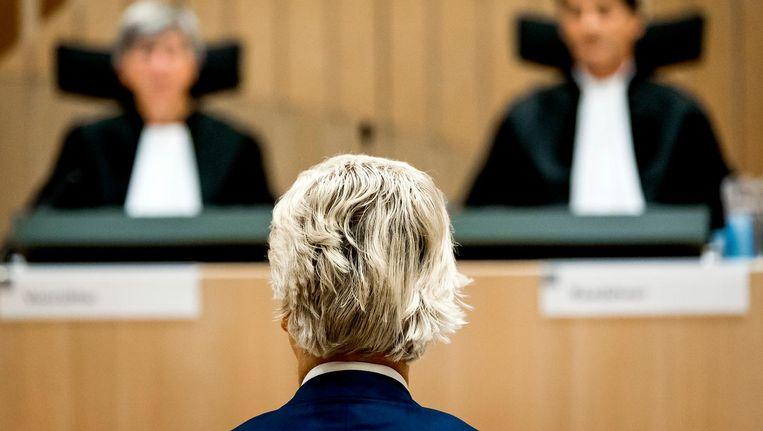 Geert Wilders in de rechtbank. Beeld anp