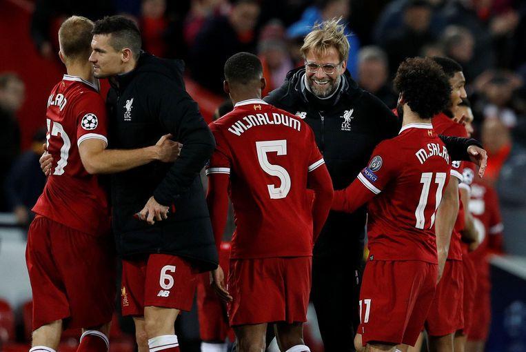Het Liverpool van Jürgen Klopp schaarde zich als laatste bij het rijtje Engelse clubs in de achtste finales.