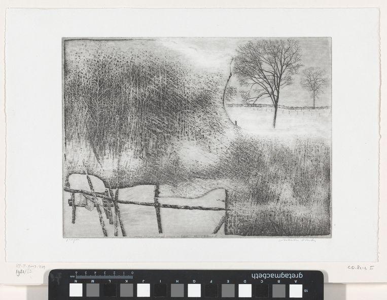 Winter in Rhijnauwen, 1980-1984. Beeld Charles Donker