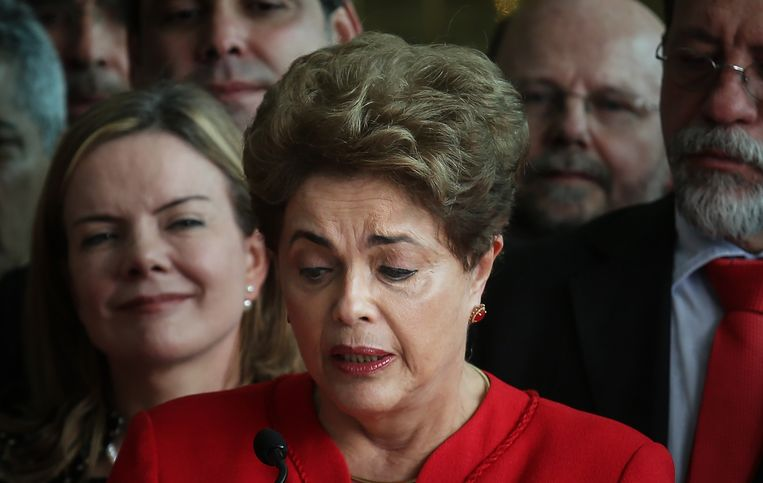 Aftredend presidente Dilma Rousseff.  Beeld