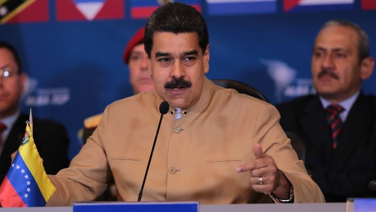De Venezolaanse president Maduro. Beeld epa