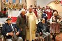 Poolse veteranen tijdens de Heilige Mis in de RK kerk in Driel na de herdenking in 2018.  Jozef Wojciechowski (rechts)  was er voor het laatst bij. Links in rolstoel Henryk Kubinski, staand naast de priester Konstanty Staszkiewicz.