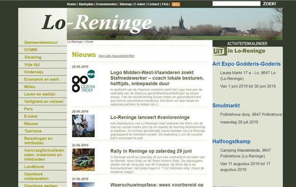 Lo-Reninge wil ook zijn website vernieuwen