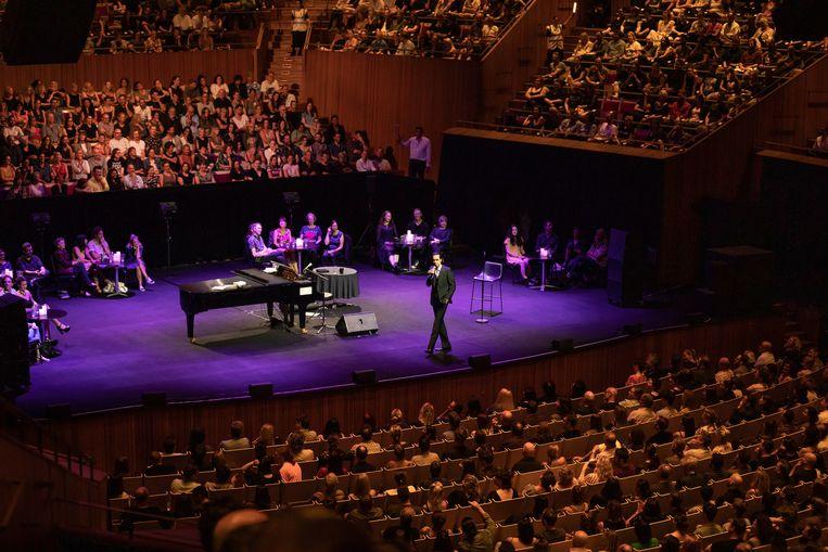 Conversations with Nick Cave, in het Opera House in Sydney. Beeld Daniel Boud