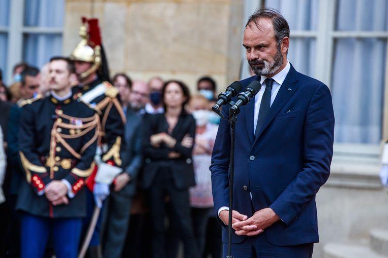 De ontslagen Franse premier Edouard Philippe. Beeld EPA