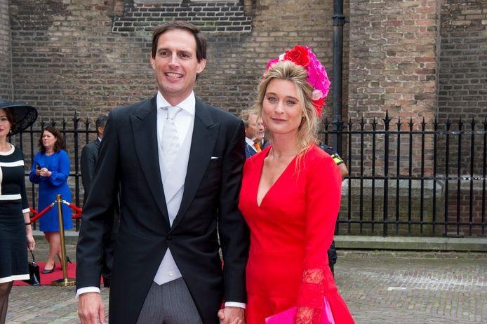 Wopke Hoekstra en zijn vrouw Liselot Hoornweg, eerder op Prinsjesdag.