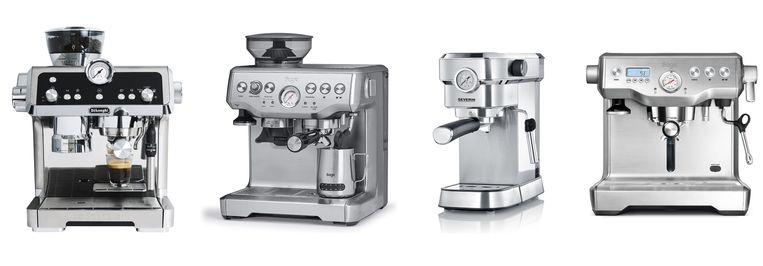 1. DeLonghi Espressomachine La Specialista EC9335.M / 2. Sage Barista Express SES875 Stainless / 3. Severin KA 5994 Espresa / 4. Sage Dual Boiler SES920BSS4EEU1 Beeld rv