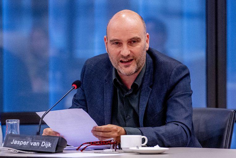 Kamerlid Jasper van Dijk (SP) hekelt de 'fraudejacht' op bijstandsgerechtigden. Beeld ANP