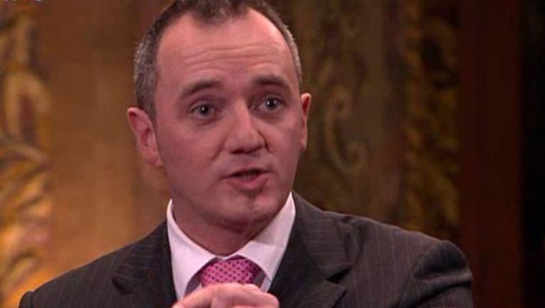 PVV-lijsttrekker Machiel de Graaf tijdens het NOS-debat Beeld