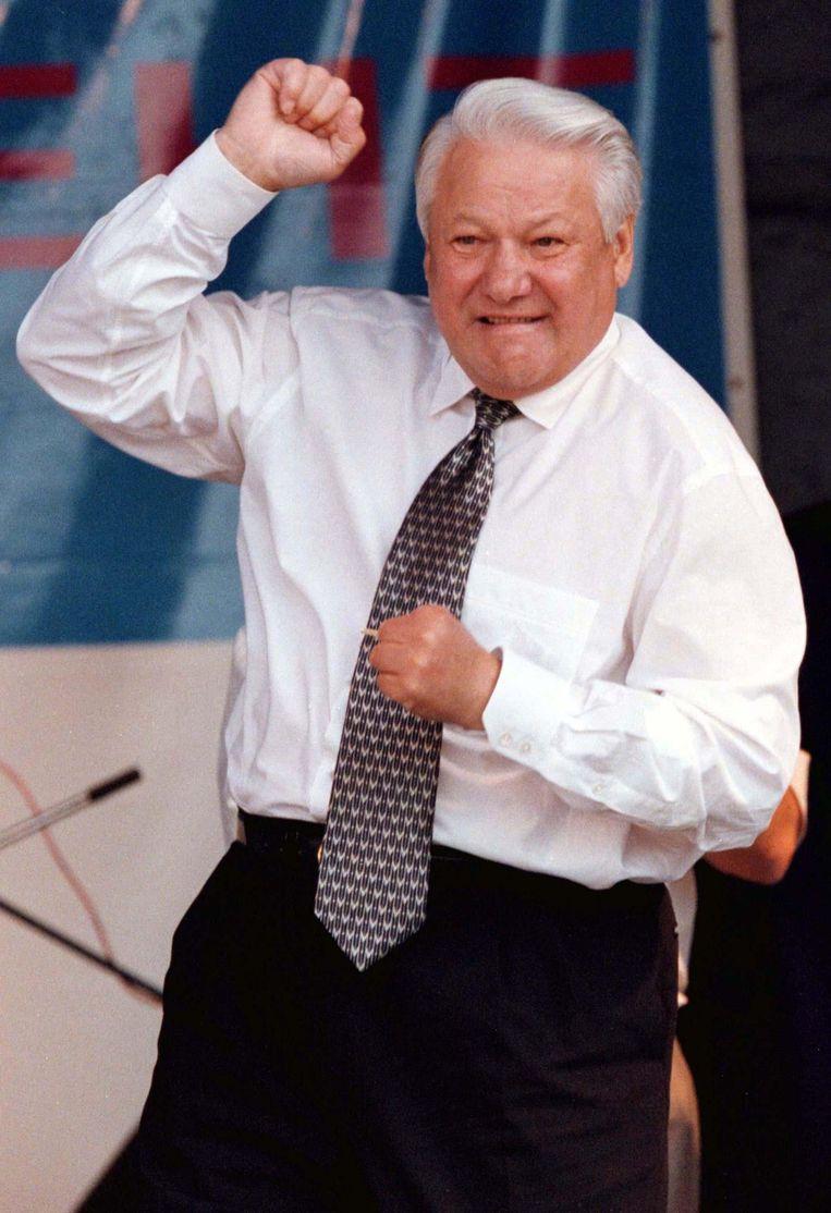 De Russische president Boris Jeltsin (1991-1995) zoals een groot deel van Rusland en de rest van de wereld zich hem herinnert. Beeld Reuters