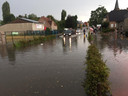 De Krawatenstraat kwam onder water te staan