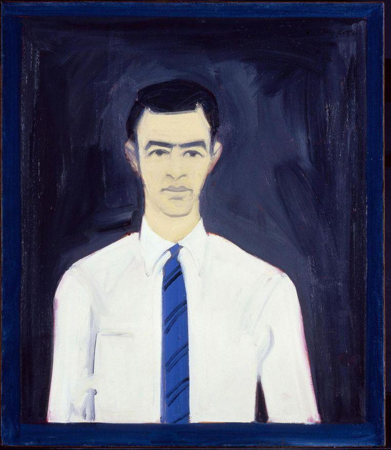 Alex Katz, zelfportret, 1960 Beeld Axa US