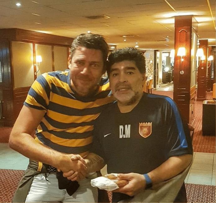 John Voets met Diego Maradona.