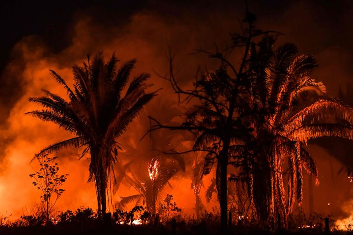 Bosbrand in de Amazone. Archiefbeeld.