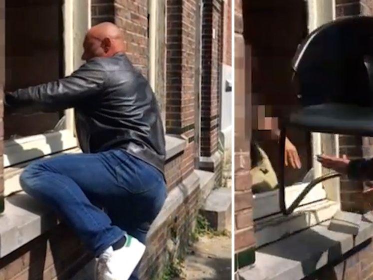 Pandeigenaar slaat ramen eigen pand in vanwege krakers