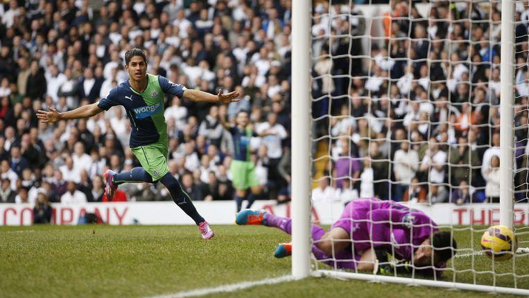 58': Ayoze Perez kopt de 1-2 binnen, Lloris is kansloos. Beeld PHOTO_NEWS