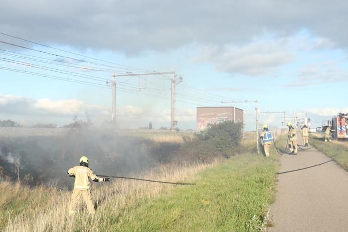 brandjes langs het spoor