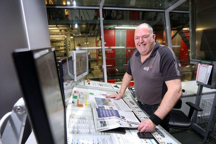 John Pellis (56) uit Etten-Leur werkt in de DPG-Drukkerij waar onder meer BN DeStem wordt gedrukt.