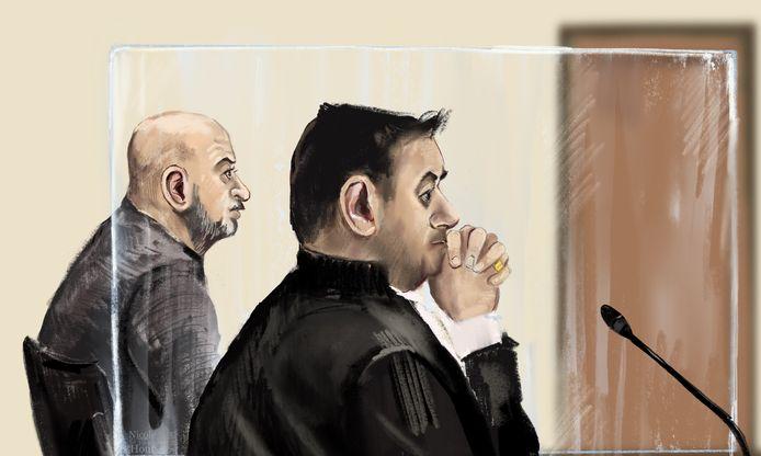 Rechtbanktekening van Mustafa A.