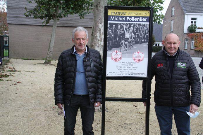 Rik Decoster (links) stippelde de route uit. Michel Pollentier is heel dankbaar voor die appreciatie
