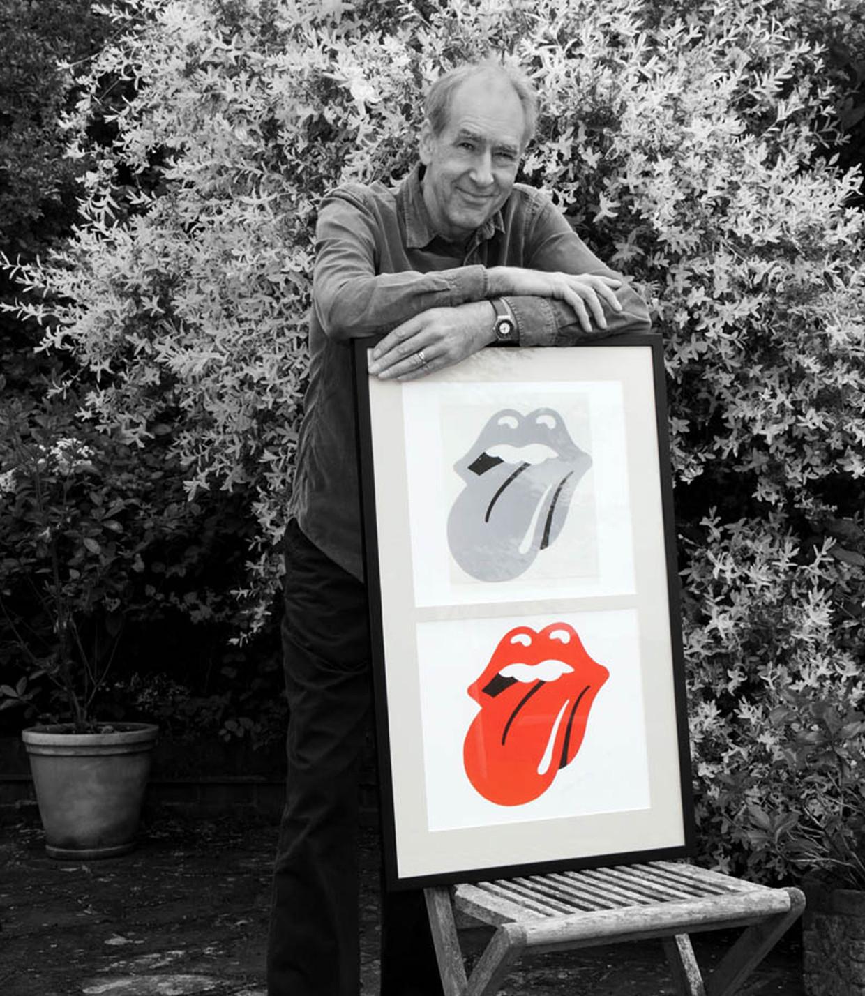 John Pasche, de ontwerper van het Tongue and Lips-logo van The Rolling Stones. Beeld