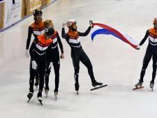 Shorttrackers behalen op EK goud op aflossing, zilver voor de vrouwen op relay