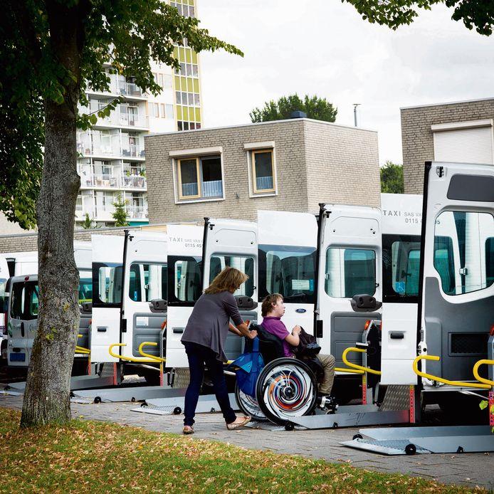 Taxibusjes bij De Sprienke in Goes.