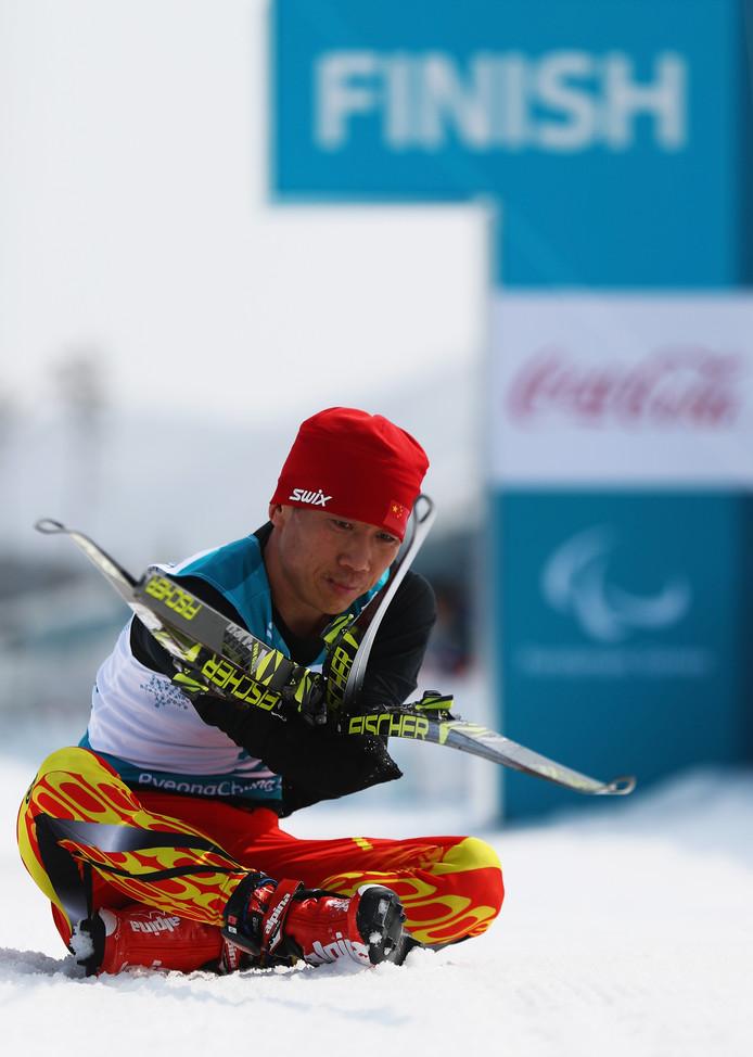 De Chinese langlaufer Mingtao Ma.