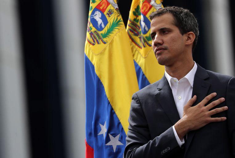 Oppositieleider Juan Guaidó riep zichzelf tot president uit. Beeld EPA