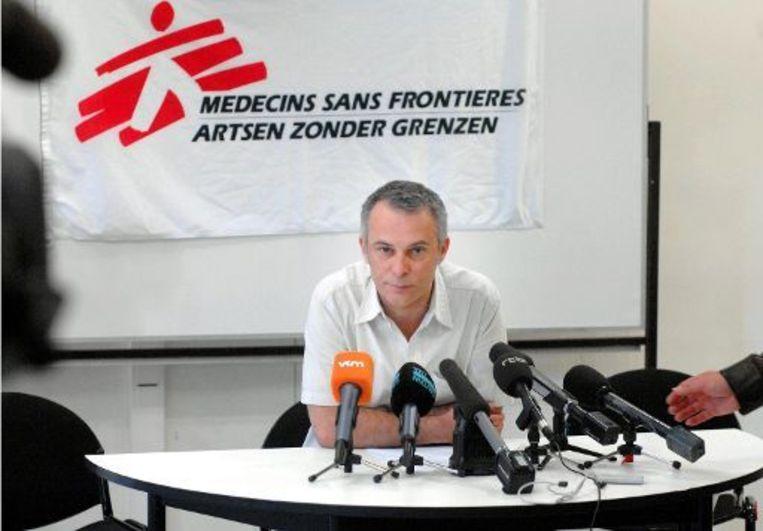 Artsen zonder Grenzen-woordvoerder Michel Peremans. Beeld UNKNOWN