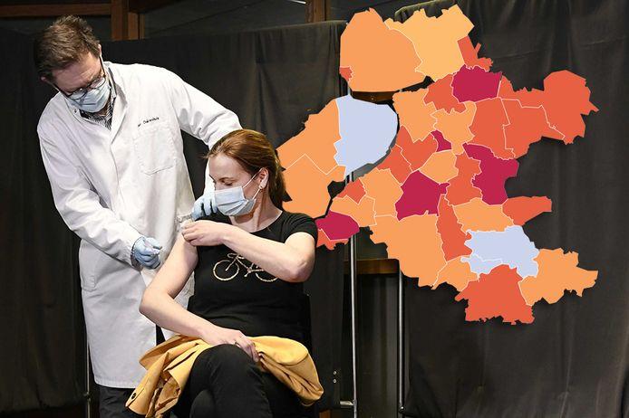 Een toename in het aantal besmettingen in Oost-Nederland