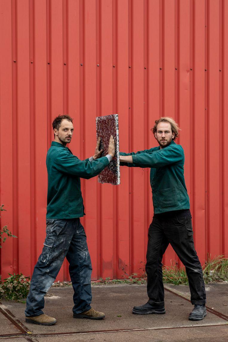 Portret van de 'Plaatjesmakers': links Thomas Hoogewerf, rechts Mark Bachrach, Beeld Nosh Neneh