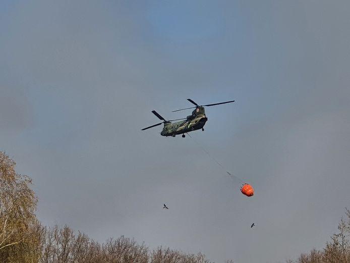 De camping Keienven werd ontruimd rond 17 uur. Vanop de camping was de blushelikopter regelmatig te zien.