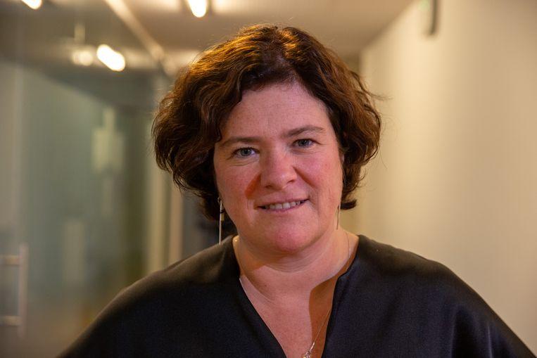 Margot Cloet van Zorgnet-Icuro: 'Het huis van de ziekenhuisfinanciering staat op instorten.' Beeld BELGA
