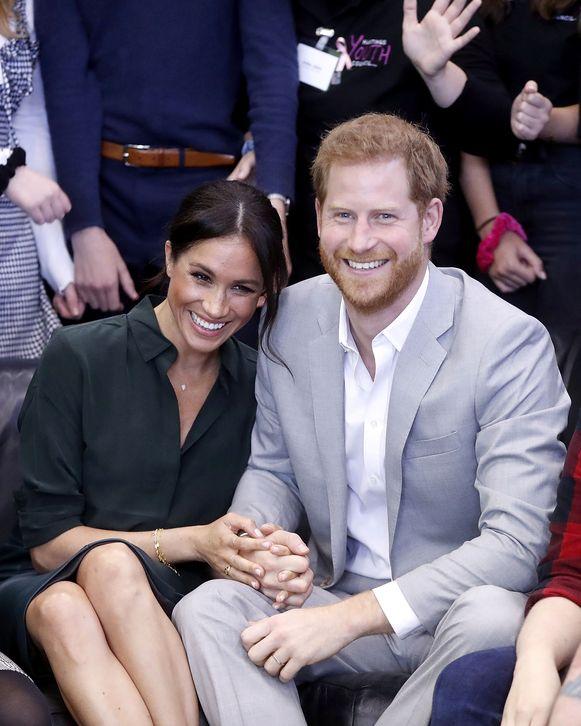 Prins Harry en Meghan Markle in Sussex.