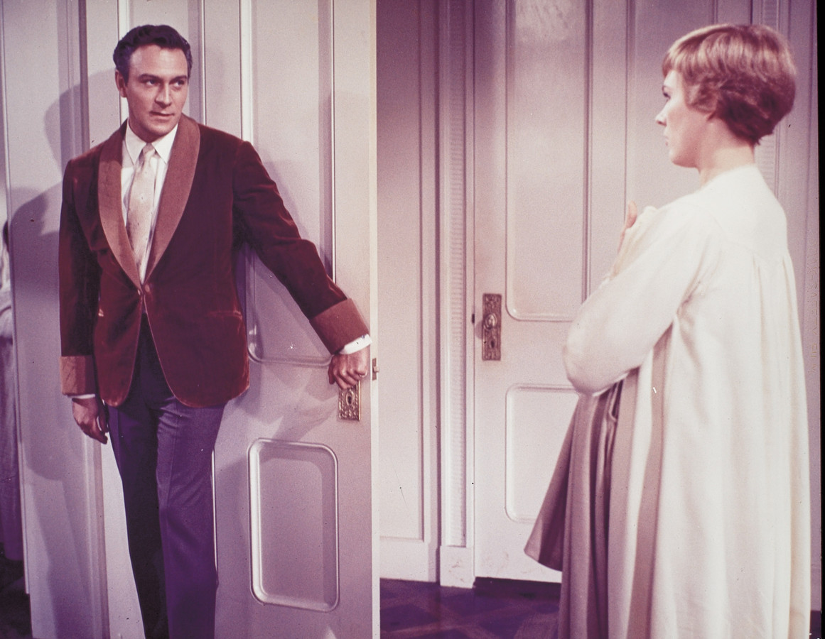 Christopher Plummer in The Sound of Music met Julie Andrews.