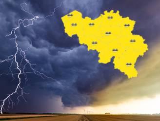 KMI waarschuwt met code geel voor onweer, rukwinden en hagel