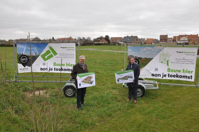 Stad Poperinge en WVI lanceren, binnen de ring rond Poperinge, 2 nieuwe hedendaagse woonprojecten namelijk Appelgoedje en Komstraat.