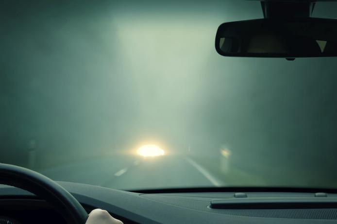 Code geel vanwege dichte mist.
