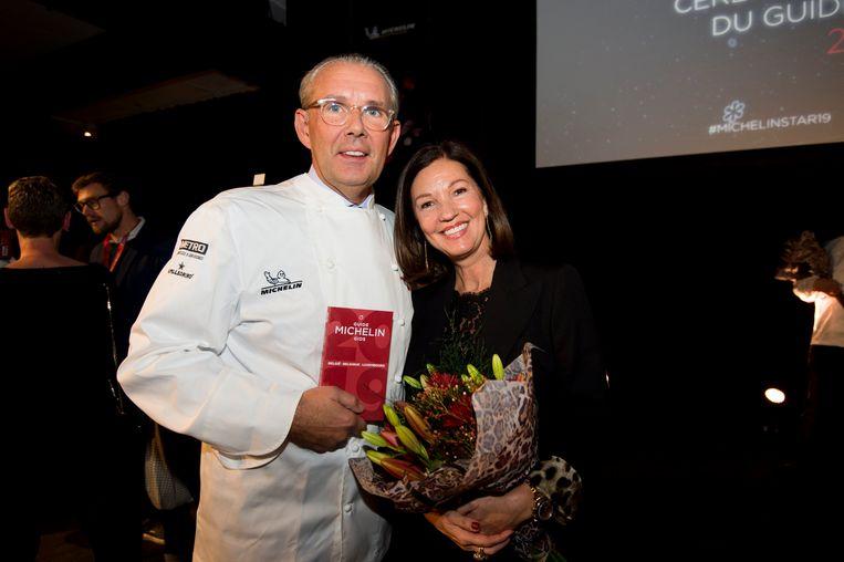 Peter Goossens van Hof van Cleve is de enige chef die drie sterren op zijn deur mag plakken. Beeld Photo News