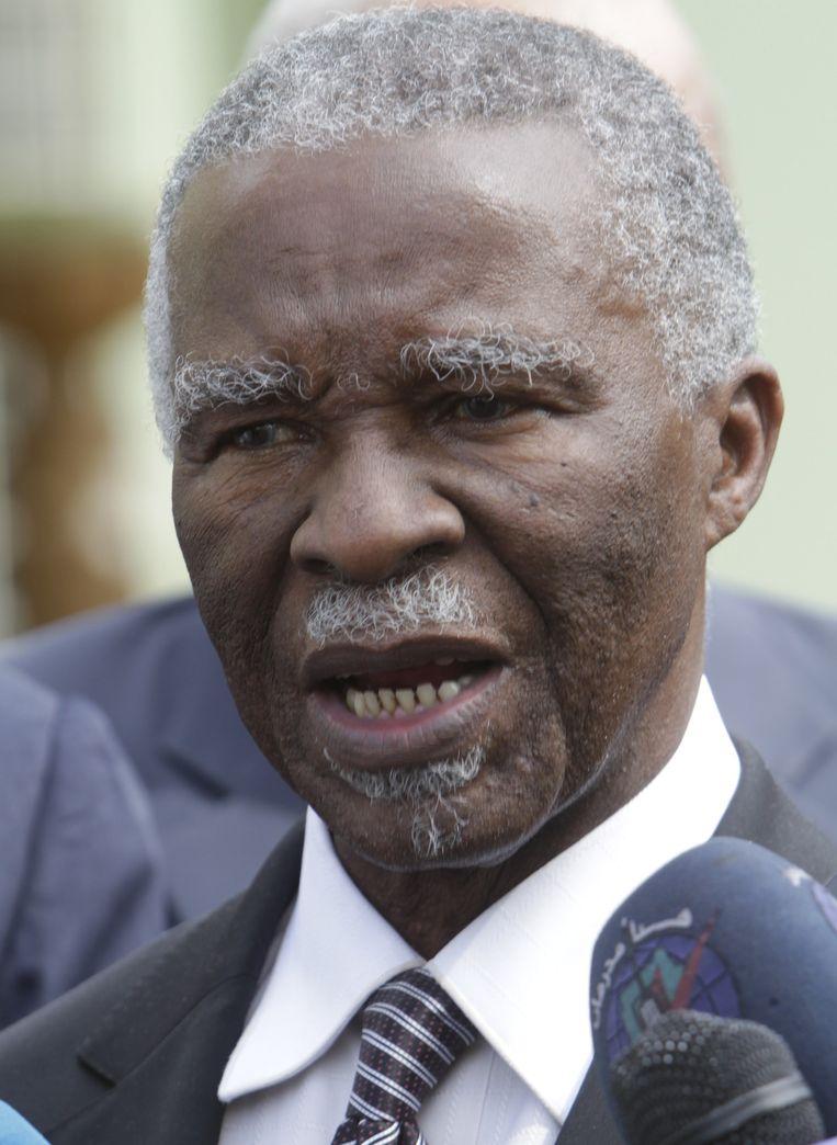 Thabo Mbeki, voormalig president van Zuid-Afrika. Beeld AFP