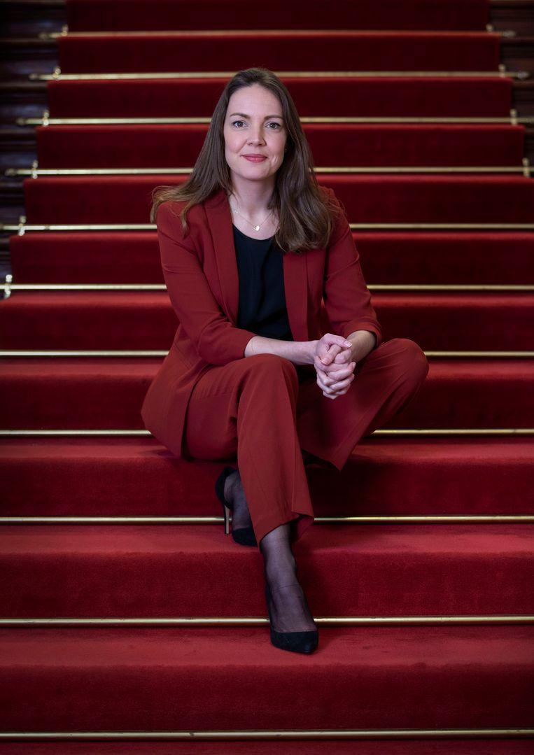 Bente Becker van de VVD,  specialist migrantenbeleid. Foto & Copyright: Werry Crone Beeld Werry Crone