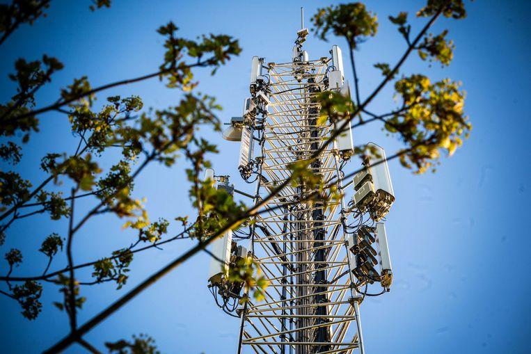 Een zendmast voor mobiele netwerken.  Beeld ANP