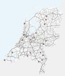 De kaart met bestaande en geplande trajectcontroles.
