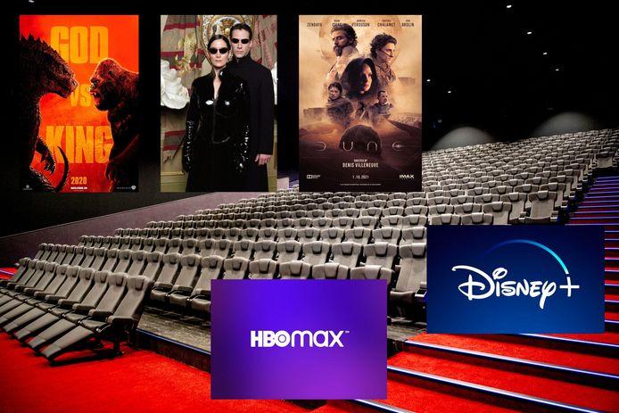 Er woedt een oorlog tussen bioscopen en studio's met eigen online-platforms als Warner Bros en Disney.