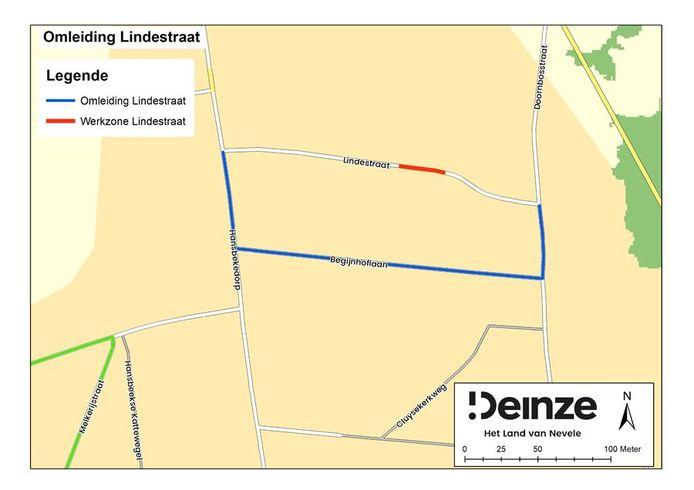De Lindestraat wordt afgesloten voor rioleringswerken.
