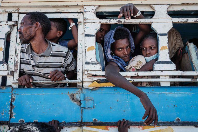 Vluchtelingen uit Tigray Beeld AFP