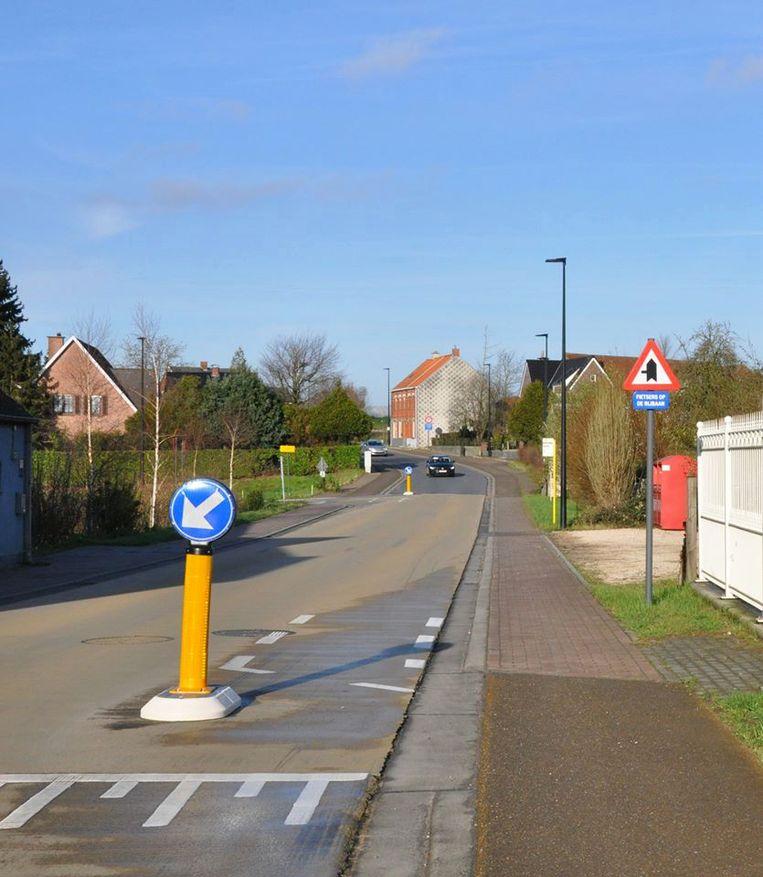 De Van Thorenburglaan werd fietsvriendelijker ingericht