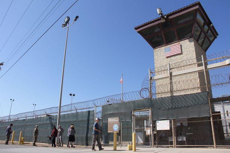 De Guantánamo Bay-gevangenis in Cuba.  Beeld AFP