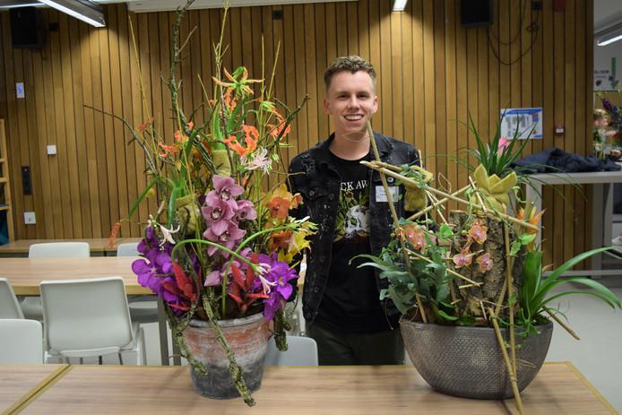 Rik Masson van de Velpse opleiding Aeres MBO gaat voor de nationale titel bloembinden.